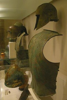 Bronze armour | Top: Helmet of Illyrian type: Greece, early … | Flickr
