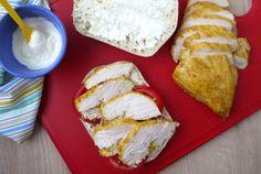 Tandoori Chicken: plain yogurt, garlic, minced ginger, paprika, ground cumin, turmeric, garam masala, ground coriander, salt.