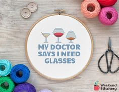 My Doctor Says I Need Glasses Funny Quote Instant Download