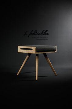 NEW !! Stool / Seat / Ottoman / bench in solid oak board and oak legs