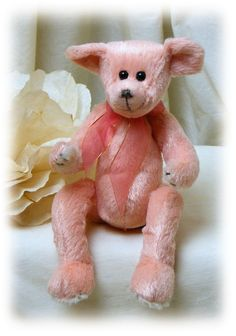 30be9ae4906 Ty Beanie Baby . . Attic Treasures . . Hayes Peach Bear by TheCraftBlossom  on Etsy