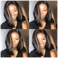 Mix Color Highlight Bob Wig Side Part Density Frontal Wig – Luvme Hair Highlight Bob, Best Lace Front Wigs, Curly Hair Styles, Natural Hair Styles, Curly Bob Wigs, Corte Bob, Lace Hair, Human Hair Wigs, Hair Trends