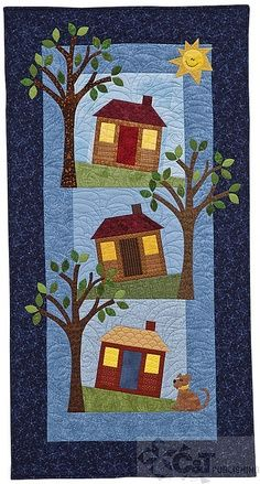 Quilting, photo - houses