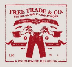 free-trade logo - perfect for roquefort cheese: economic policy