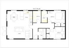 20 x 40 800 square feet floor plan - Google Search