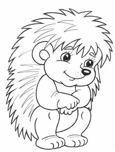 Hedgehog Coloring Page Animal Coloring Pages, Colouring Pages, Coloring Sheets, Coloring Books, Hedgehog Craft, Applique Patterns, Digi Stamps, Coloring Pages For Kids, Easy Drawings