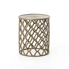 Tangier Bronze Stool #westelm Would make for a really cool pendant ceiling light