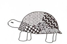 zentangle patterns for beginners animals - Google Search