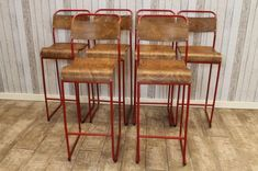 Vintage tall bar stools. Here at Peppermill Antiques, we offer the service of having any of our tubular stacking chairs professionally altered...