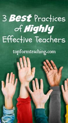 When three best practices of highly effective teachers are implemented in the classroom, magical things start happening that lead to student success.