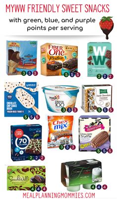 MyWW Smart Snacks - Green, Blue and Purple Point Totals - Meal Planning Mommies - MyWW Smart Snacks – Green, Blue and Purple Point Totals – Meal Planning Mommies The Effective P - Weight Watcher Desserts, Weight Watchers Snacks, Plan Weight Watchers, Weight Watchers Tipps, Weight Watchers Smart Points, Weight Watchers Recipes With Smartpoints, Weightwatchers Recipes, Weight Watchers Breakfast, Snacks