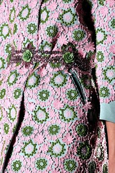 girly ----> pink and green lace coat