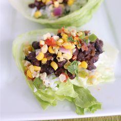 black bean lettuce wrap