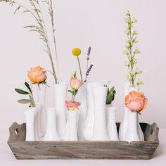 Vintage Milchglas-Vasen