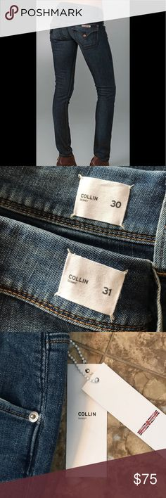 286cf4deb3c1d NWT HUDSON COLLIN SKINNY JEANS sz 30 31 BRAND NEW WITH TAG SIZES 30 and 31