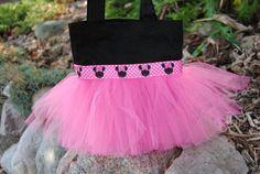 Black & Hot Pink Mini Mouse Mini Tutu Purse Bag - Free Personalization, via Etsy.