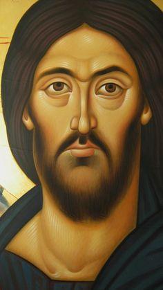 Religious Icons, Religious Art, Christus Pantokrator, Greek Icons, Byzantine Art, Orthodox Icons, Beautiful Paintings, Holy Spirit, Jesus Christ