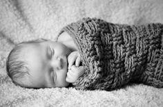 Newborn basket-weave cocoon (photo by Christina Dru Photography)