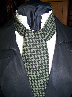 Ascot or Carvat Black and Green check fabric 4 x by civilwarlady, $12.95