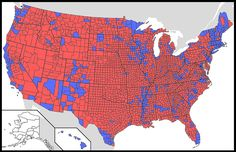 US Presidential election results by county (1964) | MAPS | Pinterest