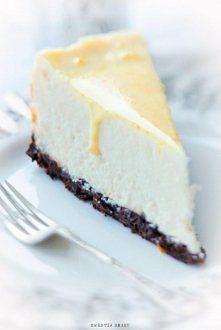 white cheesecake with orange icing Coffee Dessert, Polish Recipes, Pina Colada, Pavlova, Cake Art, Cheesecake Recipes, Cheesecakes, Cake Pops, Allrecipes