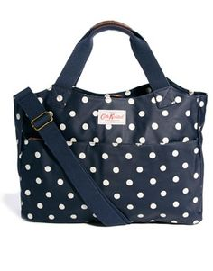 Cath Kidston Navy Spot Business Bag