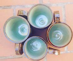 Tazas realizadas a pedido en torno alfarero.  Gres 1260°C Tableware, Mugs, Dinnerware, Tablewares, Dishes, Place Settings