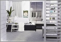 black-le Bedroom cc Sims 4 More
