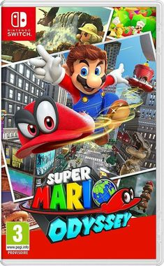Super Mario Odyssey for Nintendo Switch - Nintendo Game Details Super Nintendo, Super Mario Bros, Nintendo 2ds, Super Smash Bros, Nintendo Switch Super Mario, Nintendo Switch Games, Nintendo Switch Splatoon, Ps3 Games, Super Mario Sunshine