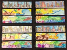 Apex Elementary Art: scape drawings