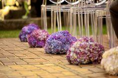 Purple, Hydrangea, Aisle