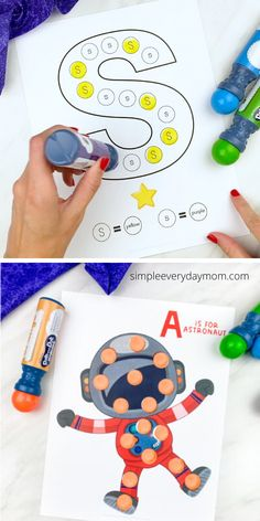 These space dot marker printables are a fun learning activity thats great for preschool, prek and kindergarten children.
