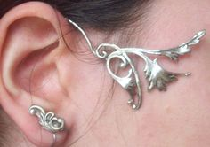 Non piercing elven earring, it wraps around your ear :]