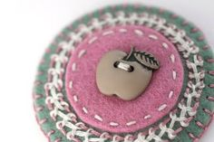 Felt applique apple by little_Z, via Flickr
