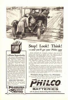 1923 Philco Batteries Advertisement National Geographic January 1923   by SenseiAlan
