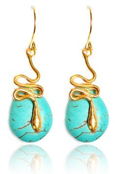 Adore SERPENTS, especially in jewelry! These are edgy and fab...Enise earrings
