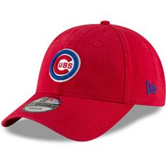 Men s Chicago Cubs New Era Red Batting Practice Core Fit Replica 49FORTY Fitted  Hat c0707533ce71