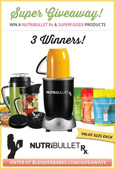 NutriBullet Rx and SuperFoods Giveaway from Blender Babes! CLICK HERE to enter our current blender giveaway!