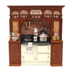 Dollhouse Accessories | Dollhouse Miniature Aga Range With Accessories by Reutter... | Shop ...