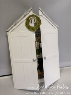 The Craft Spa - Stampin' Up! UK independent demonstrator : Winter Wonderland Decorated House Scene Card Tutorial