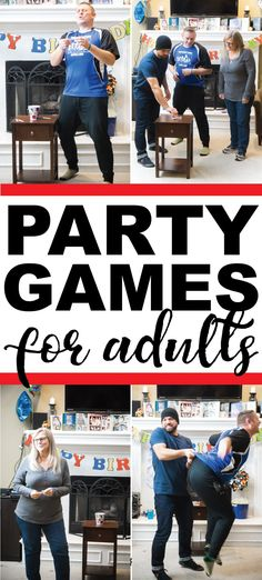 Awesome party games for adults, teens, or for adults (without the drinking!). Great for birthday parties, Christmas, or for a family reunion! Funny group games that everyone will love! via @playpartyplan