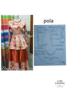 Diy Clothing, Clothing Patterns, Pola Rok, Kebaya Dress, Sewing Blouses, Baby Dress Patterns, Sewing Basics, Couture, Lady