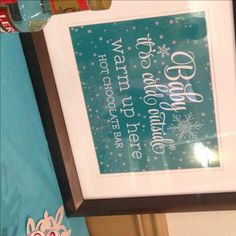 Real Shower: Baby It's Cold Outside! Hot Chocolate Bars, Its Cold Outside, Shower Ideas, The Outsiders, Baby Shower, Creative, Baby Sprinkle, Baby Showers, Babyshower