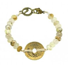 Energy Muse Guardian Angel Bracelet;    This Energy Muse piece has been created with Rutilated Quartz, a unique crystal, in that it carries with it an ethereal or angelic vibration. This gentle stone contains thin threads of minerals that are visible to the naked eye, and are often referred to as Venus Hair Stone or Angel Threads. Once brought into your energy field, Rutilated Quartz will dissolve depression and strengthen the will, encouraging a clear connection to your guardian angels.