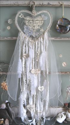 Dream catcher, wedding dreams, vintage lace