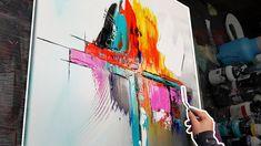Apprendre à faire une peinture abstraite au couteau à peindre - Porcelaine