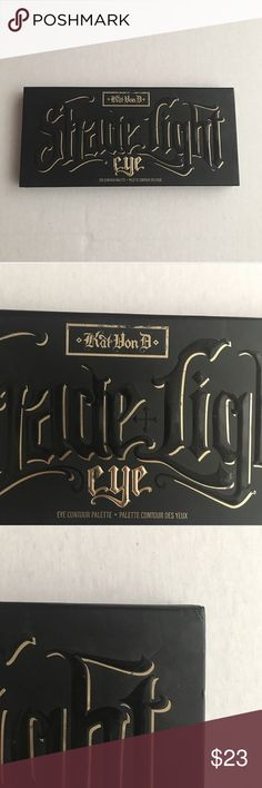 Kat Von D Shade & Light Eye Contour Palette Pigmented, neutral shades. Used, but cleaned and sanitized.  Flaws in packaging include fading of text.  A lot of product left.  Authentic. Kat Von D Makeup Eyeshadow