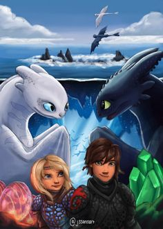was kind enough to let me redraw their httyd 3 poster in my style because I loved it that much! Got Dragons, Httyd Dragons, Dreamworks Dragons, Httyd 3, Dragon 2, Dragon Rider, Film Disney, Disney Art, Toothless And Stitch