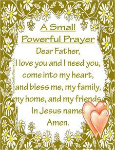 (via Stephanie Jankowski) A Small Powerful Prayer