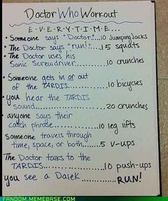 """The """"Doctor Who"""" Workout Is Harder Than It Sounds"""